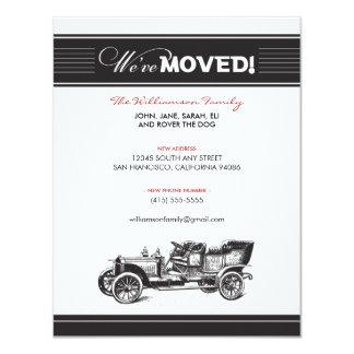 Anúncio movente da família do carro antigo (preto) convite 10.79 x 13.97cm