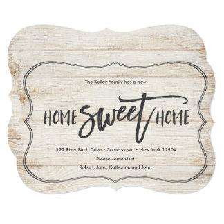 Anúncio movente da pálete de madeira Home doce
