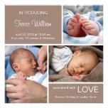 Anúncio múltiplo do nascimento da foto//castanho c convites