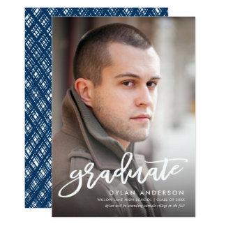Anúncio na moda da graduação da foto do roteiro da