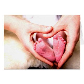 Anúncio nascido do bebê recém-nascido pelo amor cu cartão comemorativo