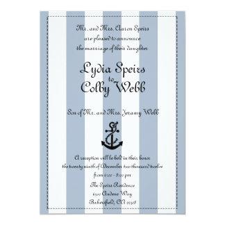 Anúncio náutico do casamento da listra editado convite 12.7 x 17.78cm