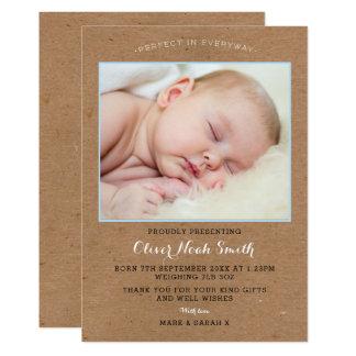 Anúncio novo/cartões de agradecimentos do bebé