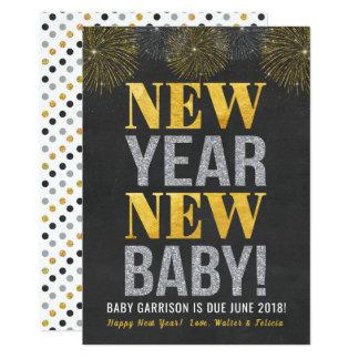 Anúncio novo da gravidez do bebê do ano novo