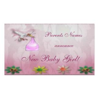 Anúncio novo do bebé cartão de visita
