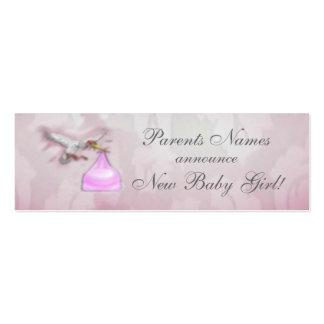 Anúncio novo do bebé cartão de visita skinny