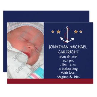 Anúncio novo do bebê da âncora do navio