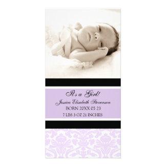Anúncio novo do nascimento do bebê do modelo da fo cartão com foto personalizado