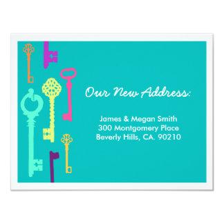 Anúncio novo legal do endereço das chaves   convite 10.79 x 13.97cm