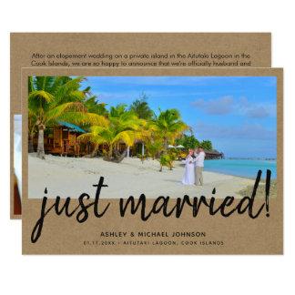 Anúncio ocasional do casamento da foto do recem