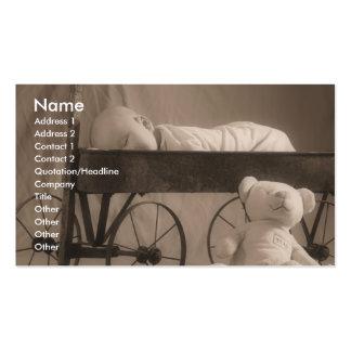 Anúncio ou negócio do bebê cartão de visita