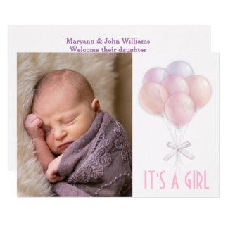 Anúncio Pastel do nascimento da foto do bebé do