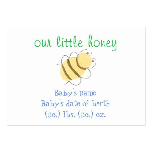 Anúncio pequeno do nascimento do bolso da abelha cartao de visita