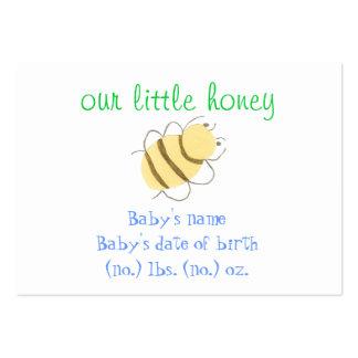Anúncio pequeno do nascimento do bolso da abelha cartão de visita grande