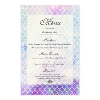 Anúncio personalizado menu do casamento da