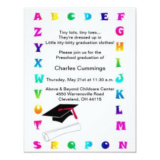 Anúncio pré-escolar da graduação dos pequenos convite 10.79 x 13.97cm