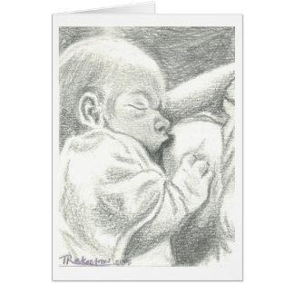 Anúncio recém-nascido de nutrição do nascimento cartão comemorativo