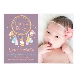 Anúncio recém-nascido do nascimento do bebê novo