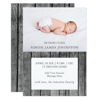 Anúncio recém-nascido rústico do nascimento