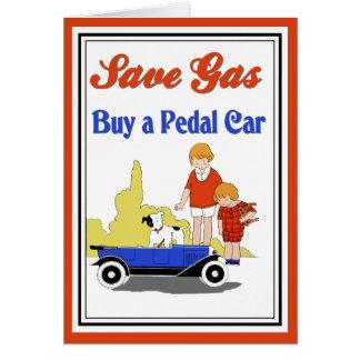 Anúncio retro do carro do pedal de gás das