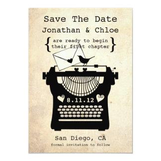 Anúncio romântico da máquina de escrever STD do Convite Personalizado