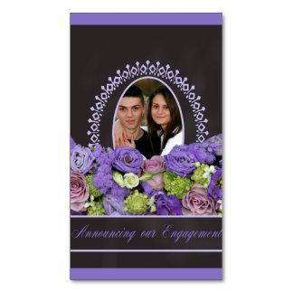 anúncio roxo do noivado da foto dos rosas