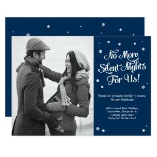 Anúncio silencioso do Natal da gravidez das noites Convite 12.7 X 17.78cm