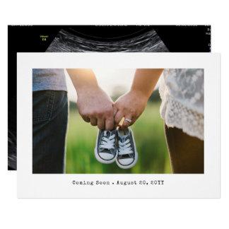 Anúncio simples da gravidez da foto