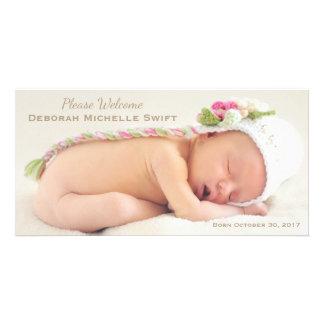 Anúncio simples do nascimento da foto da elegância