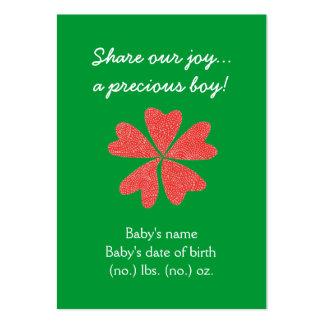 Anúncio temático do nascimento do bolso do Natal Cartão De Visita Grande