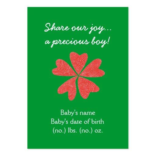 Anúncio temático do nascimento do bolso do Natal Modelos Cartoes De Visitas