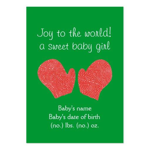 Anúncio temático do nascimento do bolso do Natal Cartões De Visitas