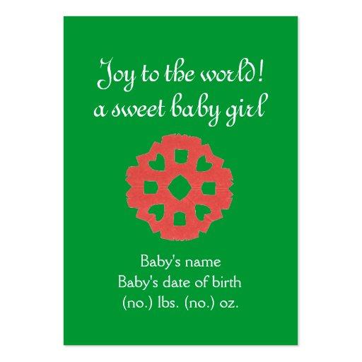 Anúncio temático do nascimento do bolso do Natal Cartao De Visita