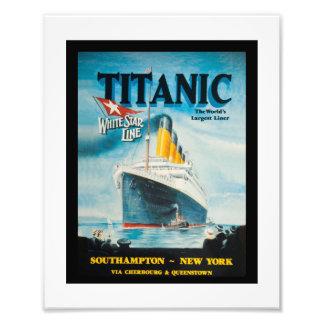 Anúncio titânico do viagem do RMS Impressão De Foto