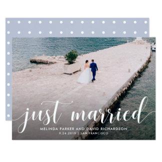 Anúncio tranquilo da foto do recem casados dos