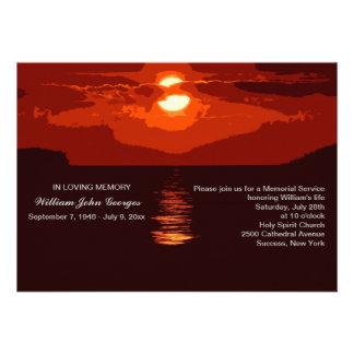 Anúncio vermelho da cerimonia comemorativa do por