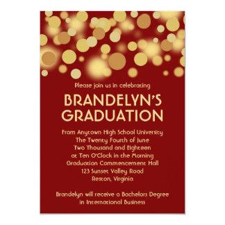 Anúncio vermelho da graduação da celebração do convite 12.7 x 17.78cm