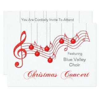 Anúncio vermelho do concerto do Natal do laço