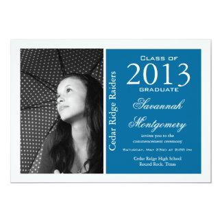 Anúncios 2013 da conclusão do ensino secundário convite 12.7 x 17.78cm