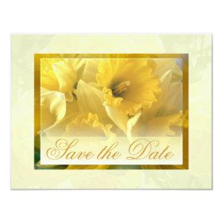 Anúncios amarelos do narciso convite