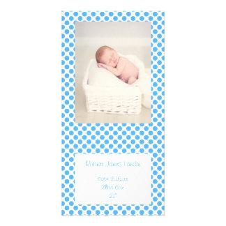 Anúncios azuis do bebê das bolinhas
