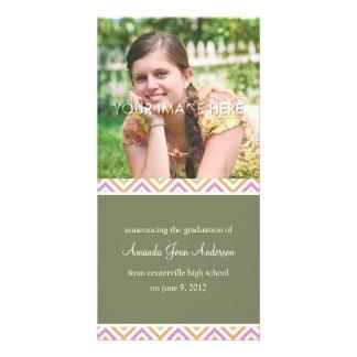 Anúncios bonito da graduação das vigas cartões com foto