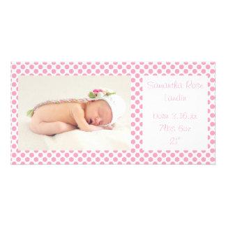 Anúncios cor-de-rosa do bebê das bolinhas