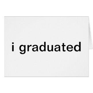 anúncios da graduação cartão comemorativo