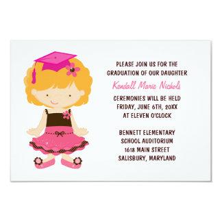 Anúncios da graduação da escola primária convite 8.89 x 12.7cm