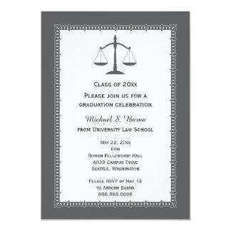 Anúncios da graduação do advogado da escola de convite 12.7 x 17.78cm