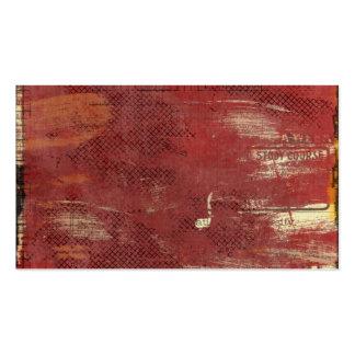 anúncios de jornal pintados vermelho do vintage modelos cartoes de visitas