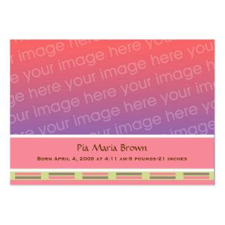 Anúncios do nascimento da foto do bebê cartão de visita grande