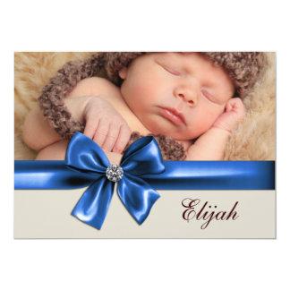 Anúncios do nascimento da foto do bebé de Brown Convite Personalizado