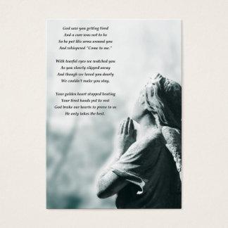 anúncios do serviço fúnebre da oração do anjo cartão de visitas